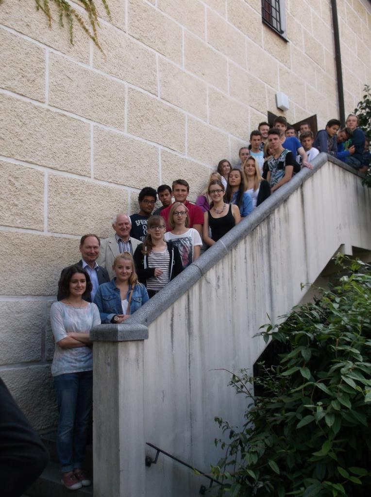 Empfang Jugendliche aus Ceyrat